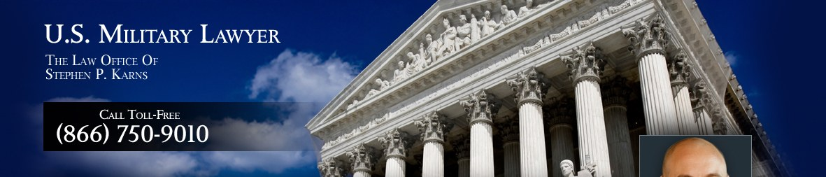 U.S. Military Lawyer - The Law Office of Stephen P. Karns